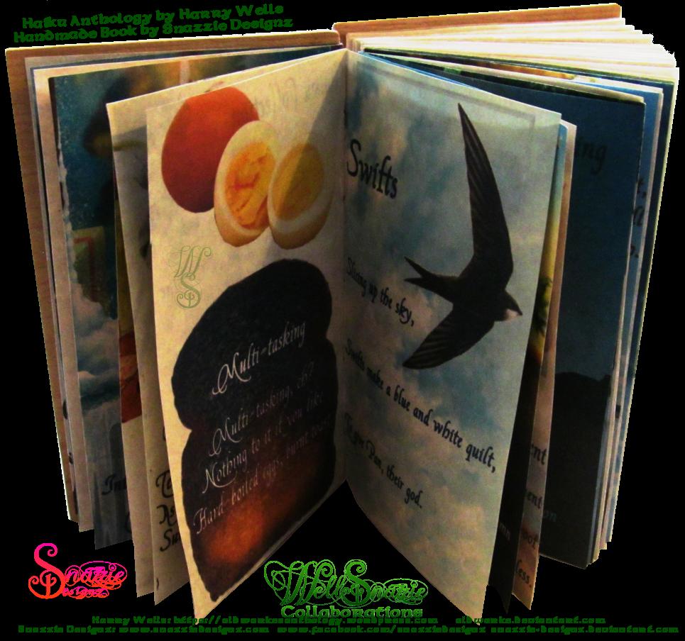 Handmade Coptic Bound Haiku Book by Snazzie Designz
