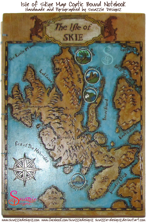 Coptic Bound Isle of Skye Map A5 Journal