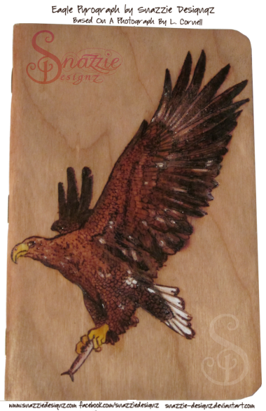 Eagle Pyrograph on Field Notes Notebook