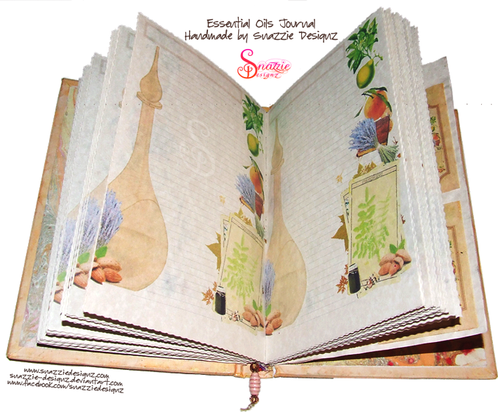 Handmade Case Bound Essential Oils Book Journal by Snazzie Designz