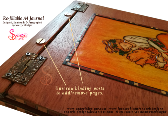 Handmade Refillable A4 Tarot Journal by Snazzie Designz