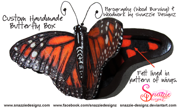 Butterfly box designed and handmade by snazzie designz
