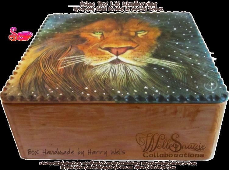 Aslan Box Lid Woodburning Pyrograph W.I.P.