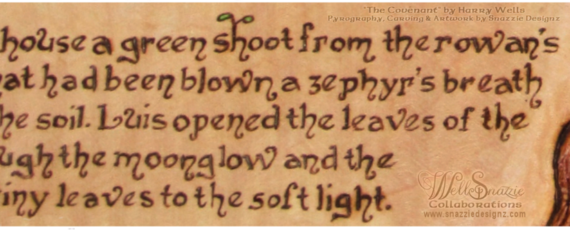 The Covenant Pyrograph/Carving Text Zoom by snazzie-designz