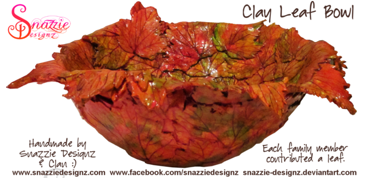 Family Clay Leaf Bowl by snazzie designz