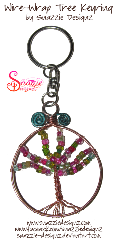 Wire-Wrapped Tree Keyring by snazzie designz
