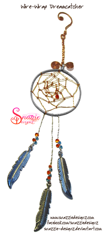 Wire-Wrapped Dream Catcher Keyring