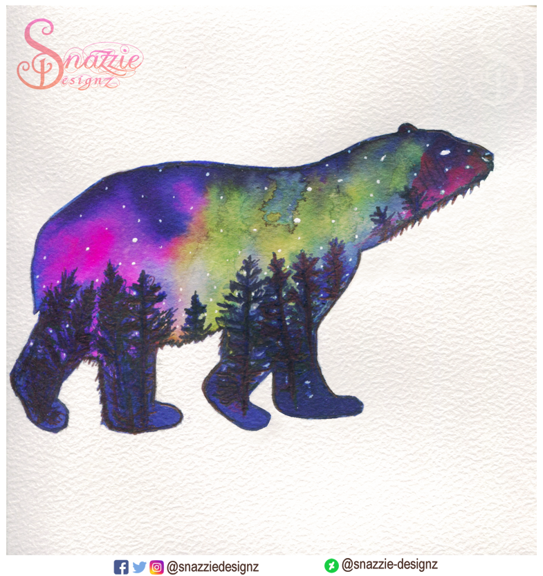 Handmade Polar Bear Card by Snazzie Designz