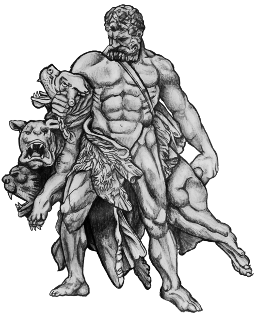 Hercules Cerberus Tattoo Design