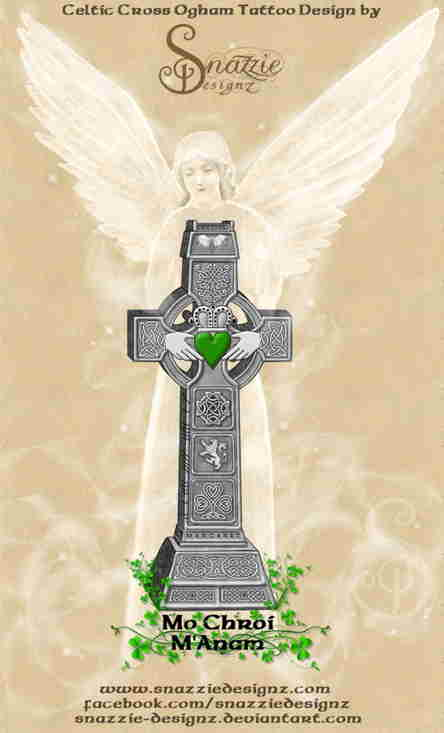 Celtic Cross In Memoriam Tattoo Design