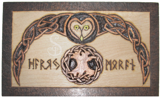 Celtic Owl and Rune Set