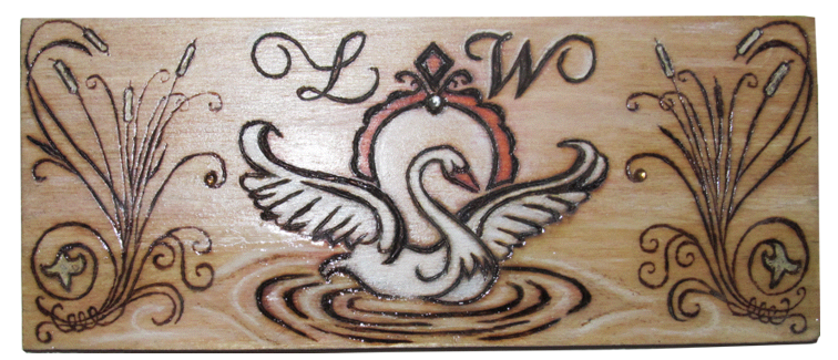 Swan Inlay For Jewellery Box